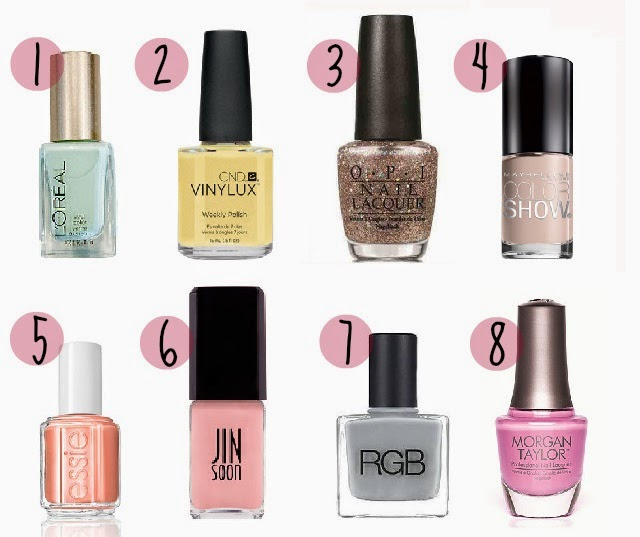 8 Nail Polish Colors For Sping 2014