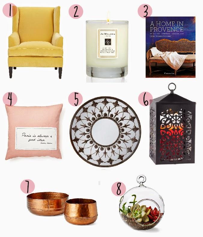 Pinterest Home Decor 2014: August Home Decor Wishlist